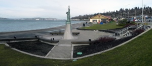 Alki Statue of Liberty - Volunteer landscaping help needed