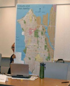ACC President, Tony Fragado presents neighborhood maps