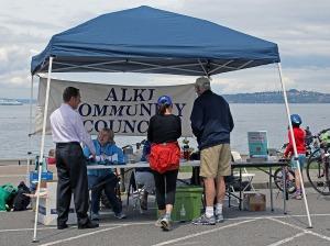 Alki Community Council table